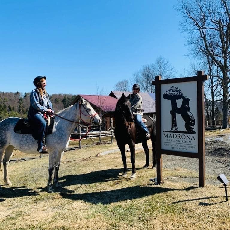horseback riding at Madrona Tasting Room